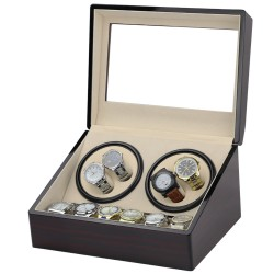 Dobbelt Watch winder i træ til 4 + 6 ure.